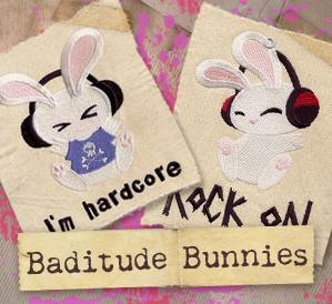 Baditude Bunnies (Design Pack)_image