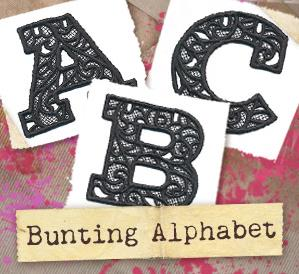 Bunting Alphabet (Lace) (Design Pack)_image