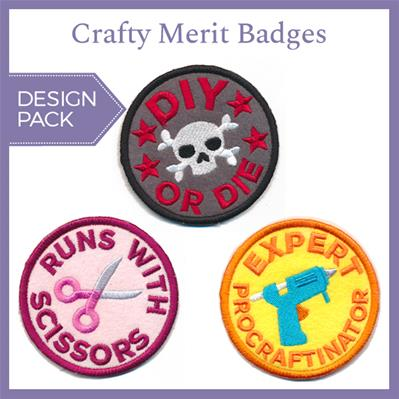 Crafty Merit Badges (Patch) (Design Pack)_image