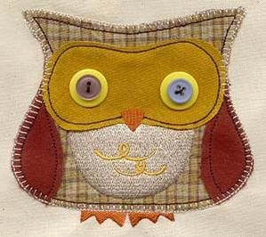 Button Buddy - Owl (Applique)_image