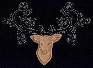 Fancy Antlers (Applique)_image