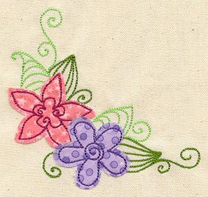 Perfect Petals Corner (Applique)_image