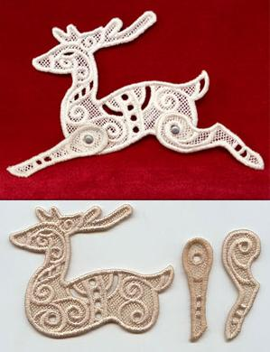 Dashing Reindeer (Lace)_image