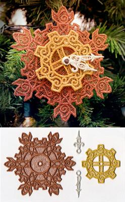 Clockwork Snowflake Ornament (Lace)_image