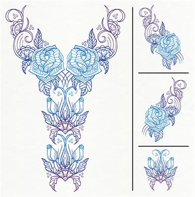 Delicate Bloom Neckline (Split)_image