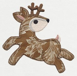 Patchwork Thicket - Fawn (Applique)_image