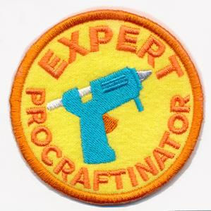 Crafty Merit Badges - Procraftinator (Patch)_image