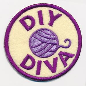 Crafty Merit Badges - DIY Diva (Patch)_image