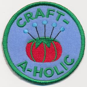 Crafty Merit Badges - Craftaholic (Patch)_image