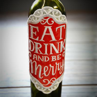 Be Merry Bottle Label (In the Hoop)_image