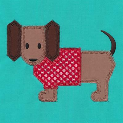 Dachshund Quilt Block (In-the-Hoop)_image