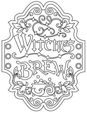 Witches Brew Apothecary Label_image