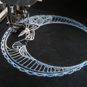 Embroidering with Thick Thread
