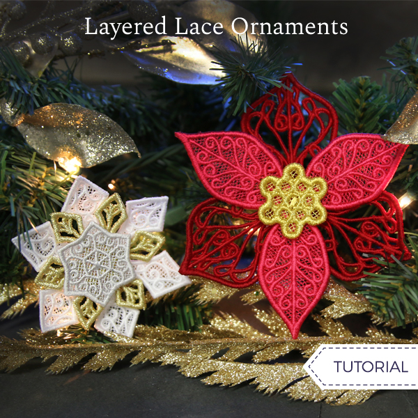 Layered Lace Ornaments
