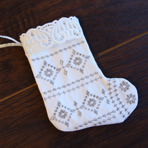 Lace Trimmed Stocking (In-the-Hoop)