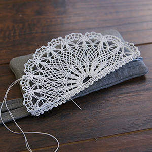 In-the-Hoop Lace Front Zipper Pouch