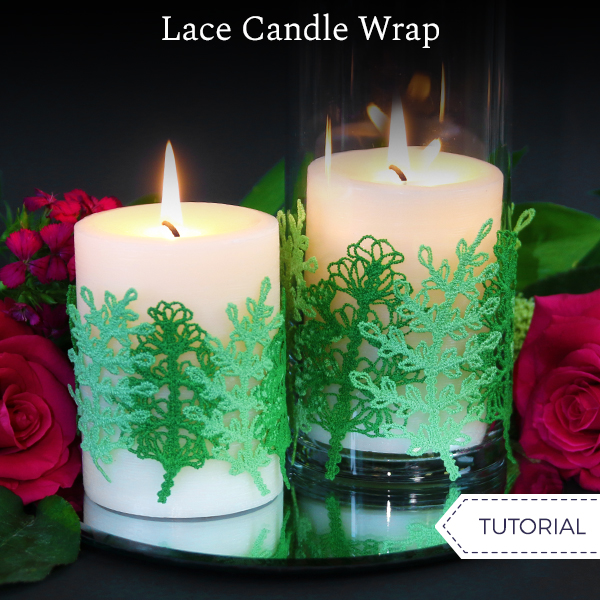 Lace Candle Wraps