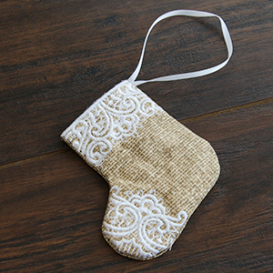 In-th-Hoop Christmas Stocking Ornament