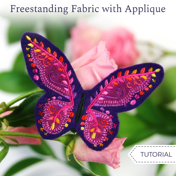 Freestanding Fabric with Applique
