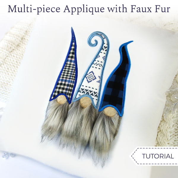 Multi-Piece Applique with Faux Fur