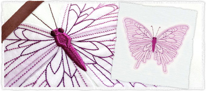 Diaphanous Butterfly (Applique)