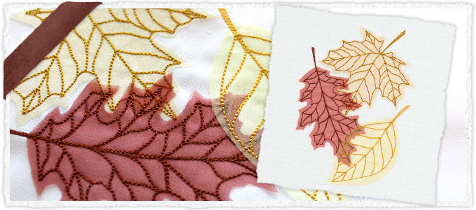 Diaphanous Autumn Leaves (Applique)