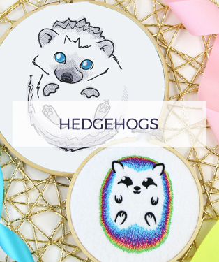 Urban Threads - Hedgehog Designs