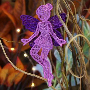 Urban Threads - 3D Lace Fairy in Flight