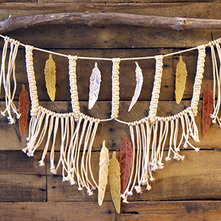 Urban Threads - Macrame & Embroidery Wall Hanging