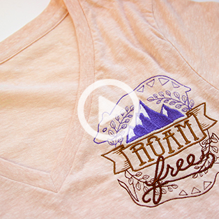 Urban Threads - Embroidering on T-shirts Video