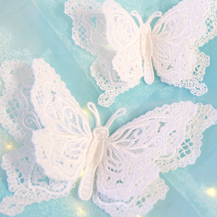 Urban Threads - Layered Lace Butterfly Tutorial