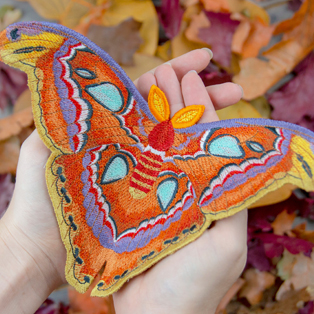 Urban Threads - Free-Flying Atlas Moth at Embroidery Library