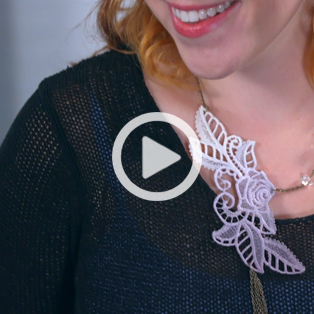Urban Threads - Video Embroidering Freestanding Lace Jewelry