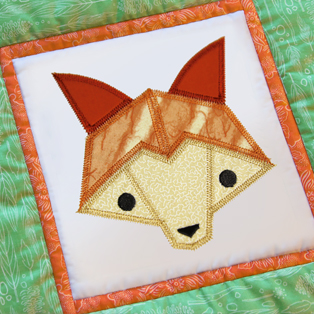 Urban Threads - Fox Face Quilt Block (In-the-Hoop)