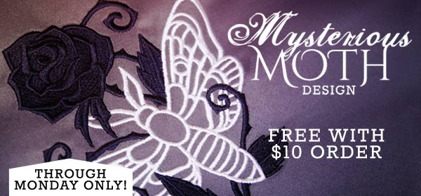Mysterious Moth Design - Free with $10 Order!