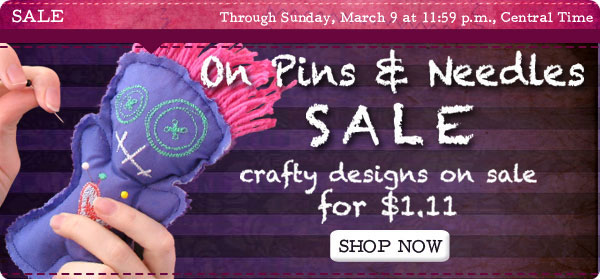 On Pins & Needles Sale