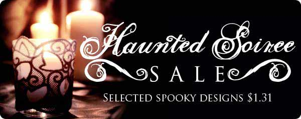 Haunted Soiree Sale - Selected Spooky Designs $1.31