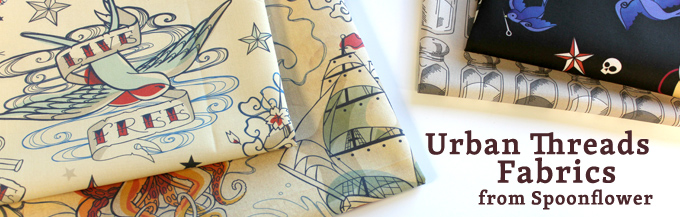 Urban Threads Fabrics from Spoonflower