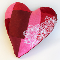 Valentine Patchwork Pillow_image