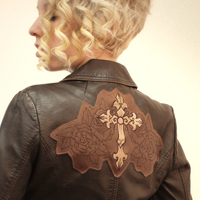 Embellished Leather Jacket_image