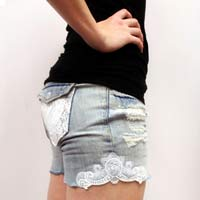 Lace Embellished Shorts_image