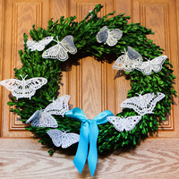 Lace Butterfly Wreath_image