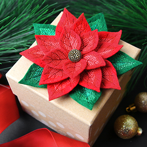 Freestanding Fabric Poinsettia_image