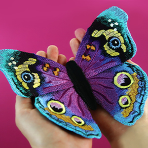 Multi-piece Fabric Butterfly (In-the-Hoop)_image