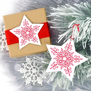 Embroidered Cardstock Ornaments & Bookmarks_image