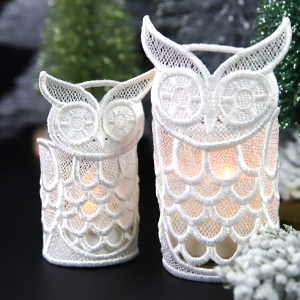 Multi-Piece Lace Votive Wrap_image