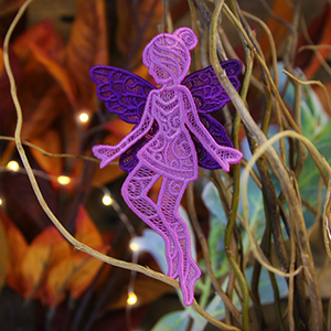 3D Lace Fairy in Flight_image