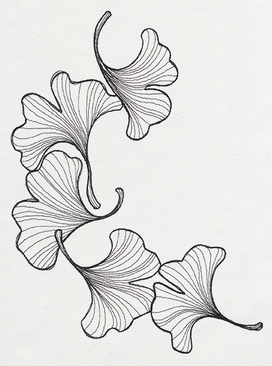 Engraved Ginkgo Urban Threads Unique And Awesome Embroidery Designs