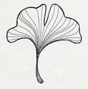 Engraved Ginkgo Single Leaf Urban Threads Unique And Awesome