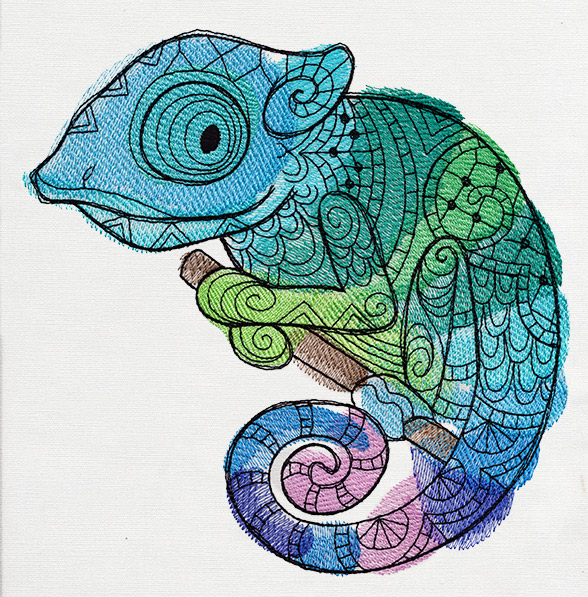 Karma Chameleon Urban Threads Unique And Awesome Embroidery Designs